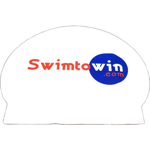 SwimtoWin.com Latex Swim Cap
