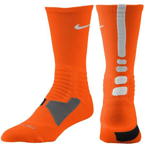 Nike Sock Basketball Hyper Elite Crew White Midnight Navy L
