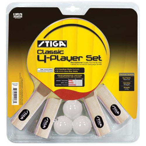 Stiga Table Tennis 4 Player Set Classic