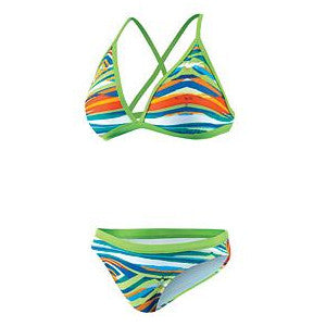 Nike Rio Geo Convert Halter 2pc Action Green 28