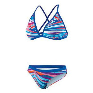 Nike Rio Geo Convert Halter 2pc Bright Blue 28