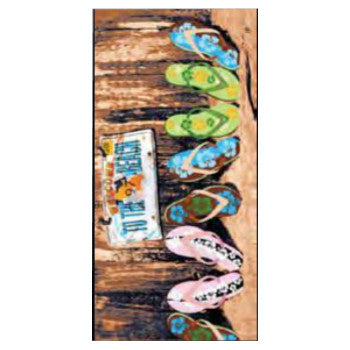 Wet Products Beach Towel Prints Beach Sandals