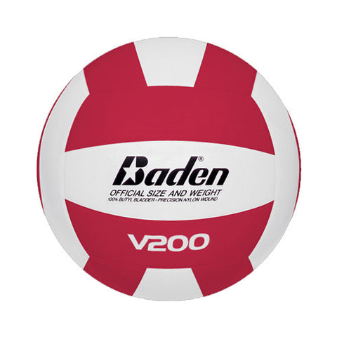 Baden Rubber Volleyball #V200-01 RED WHT