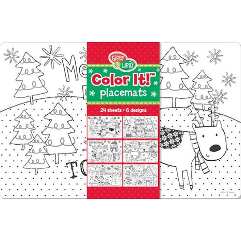 CR Gibson Color It! CYO Placemats