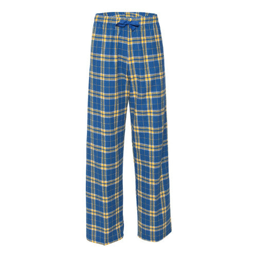 Boxercraft Yth Flannel Pants Royal/Gold Youth Small