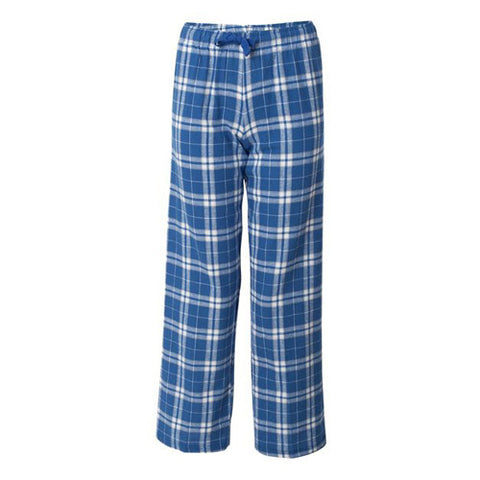 Boxercraft Yth Flannel Pants Royal/Silver Youth Large