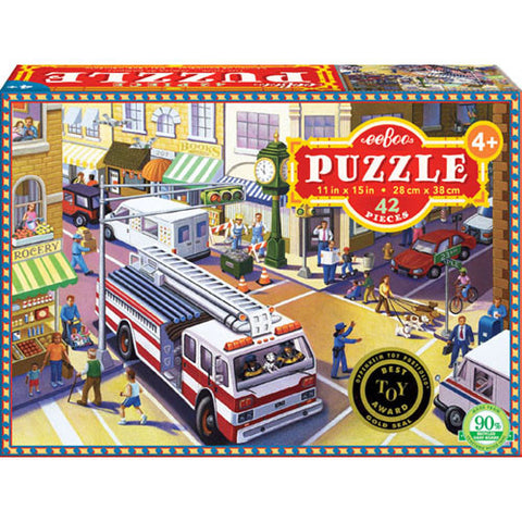 eeBoo Fire Truck 42pc Puzzle
