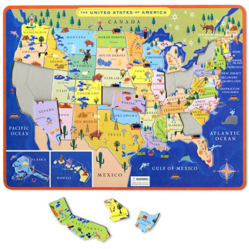 eeBoo United States Map Tray Puzzle