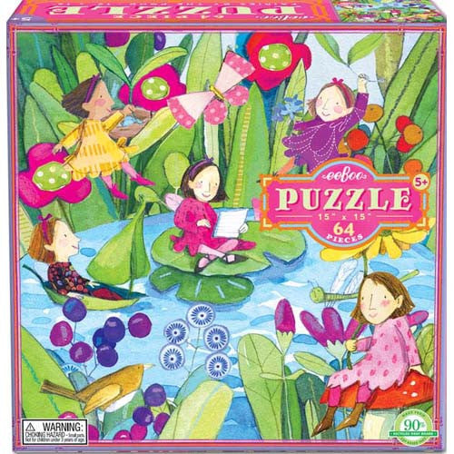 eeBoo Fairies by the Pond 64pc Puzzle