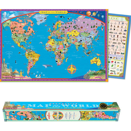 eeBoo World Map - Paper