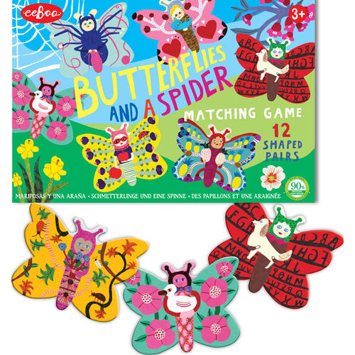 eeBoo Butterflies Spiders Matching Game