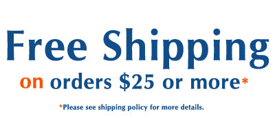 Free Shipping on orders $25 or more