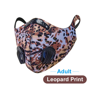 Personalized Pattern Washable and Reusable Sports Mask for Outdoor Activities, Cycling, Motorcycle, Running