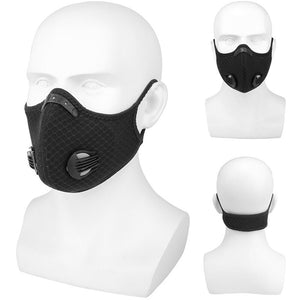 Reusable Dust Face Mask Training Masks with Activated Carbon Filter