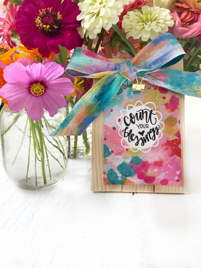 GUEST BLOG: DIY Frame + Painted Bow by Bethany Joy