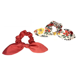 Elle Bow Scrunchie Set