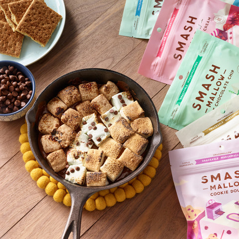 Camping at home next level s'mores recipe: Dark Chocolate S'mores Dip