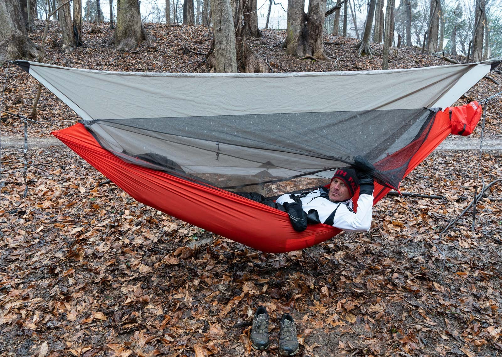 adventure alan hammock camping with the Mantis