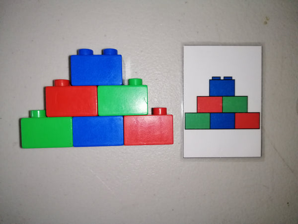 Duplo Block Match Cards
