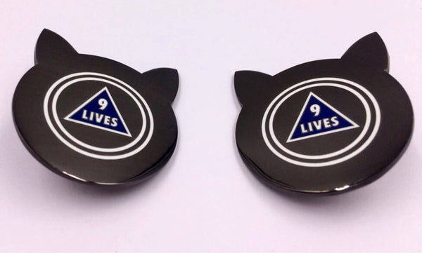 Cat Magic 8-Ball 9 Lives Enamel Pin