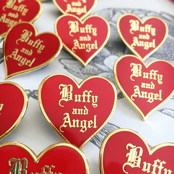 Buffy Love Enamel Pin, Buffy and Angel or Spike