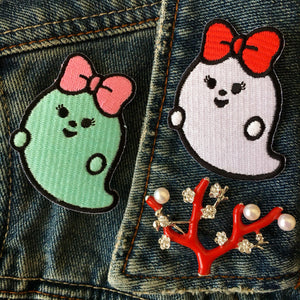 Kawaii Ghost Patch Set