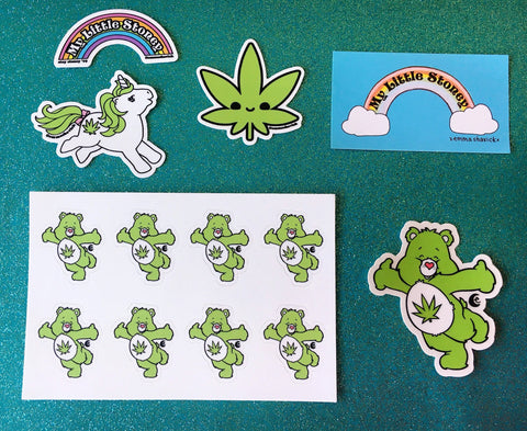Stoney Sticker Pack, Set of 5 420 Vinyl Stickers and Vinyl Sticker Sheet or Individual Stickers