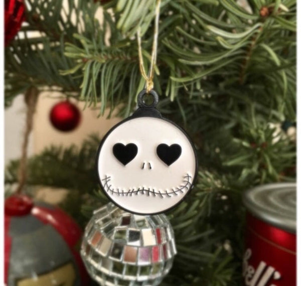 Jack Skellington Present Or Ornament Enamel Pin