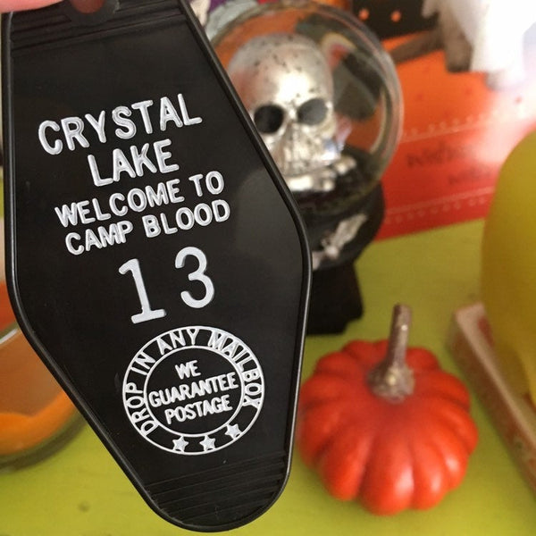 Friday the 13th Vintage Motel Keychain