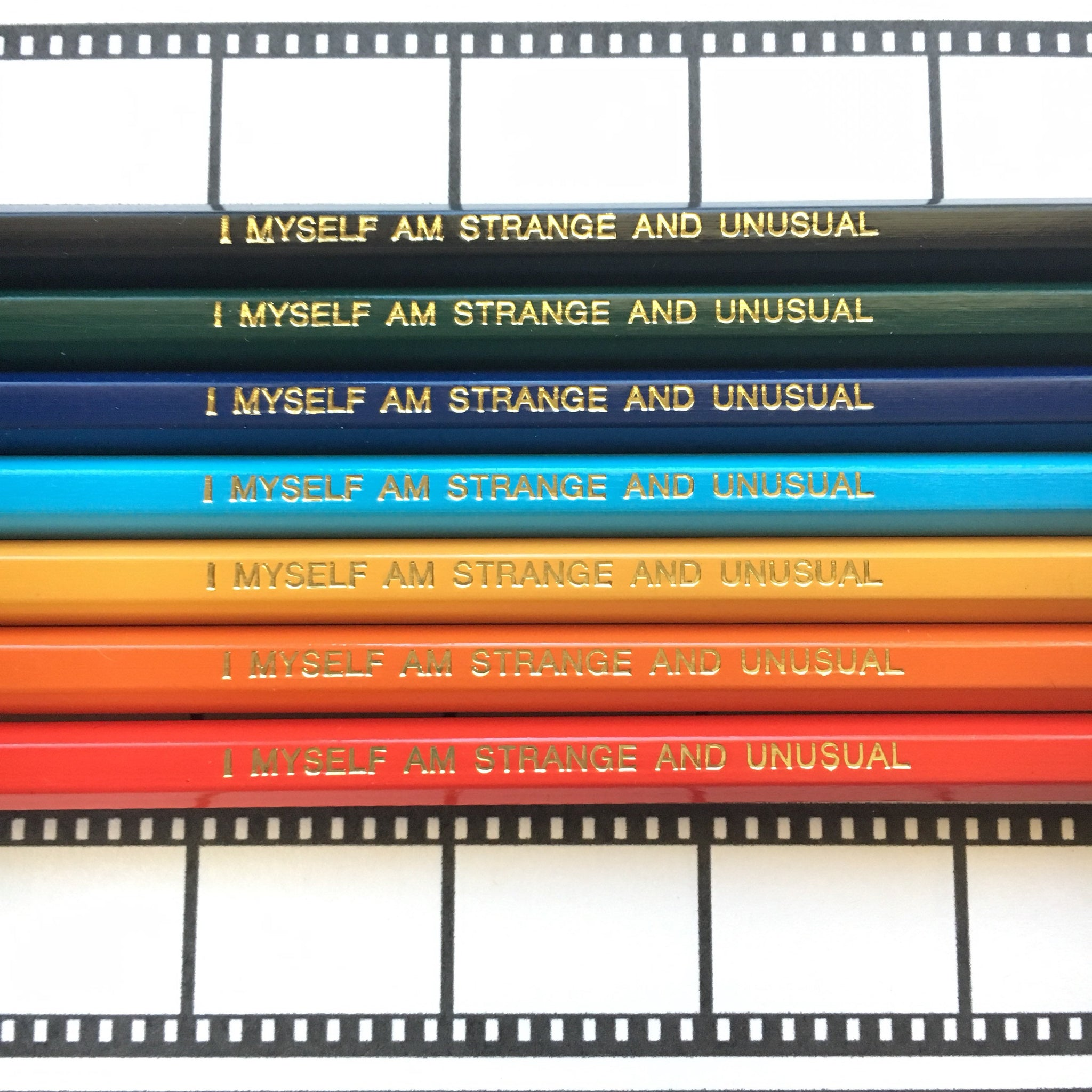 Beetlejuice 7 or 14 Pack of No 2 Pencils, I myself am strange and unusual