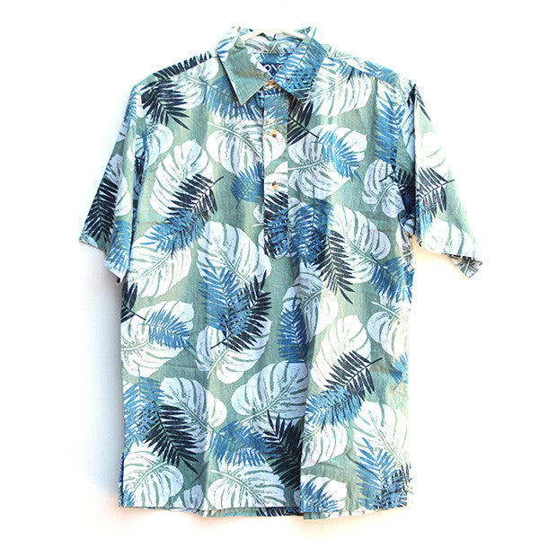 Green Leaf Aloha Shirt M