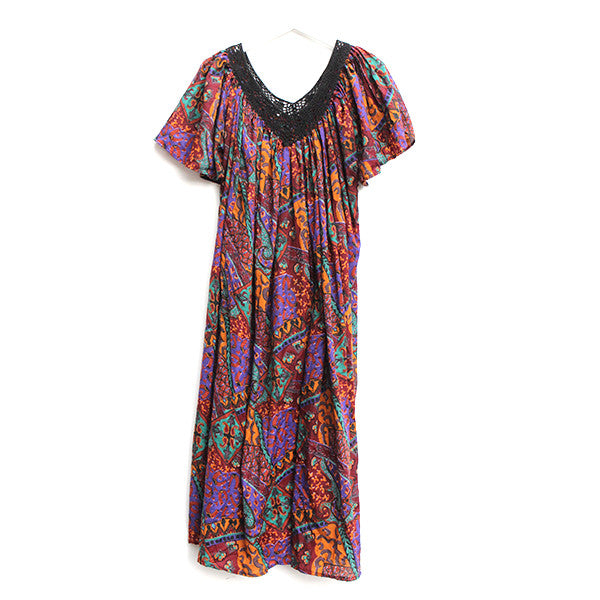 Jewel Tone Boho Dress - O/S