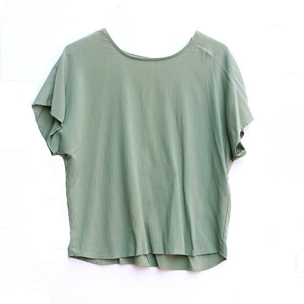 Mint Crepe Top- S/M