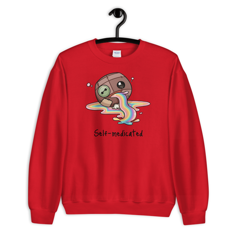 """Self-Medicated"" Sweatshirt - Wazig™ Kledij"