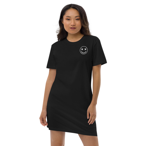 """Shhh"" Organic cotton t-shirt dress - Wazig™"