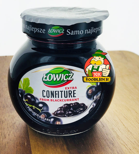 ŁOWICZ Jam Extra Confiture from blackcurrant
