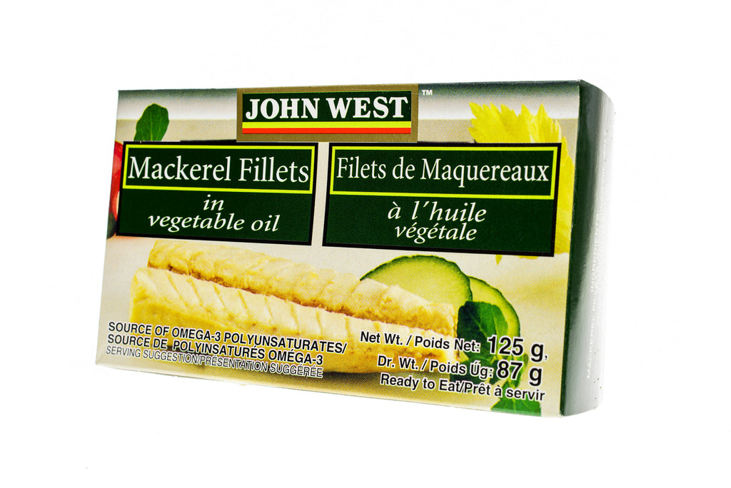 JOHN WEST Mackerel Fillets in Brine