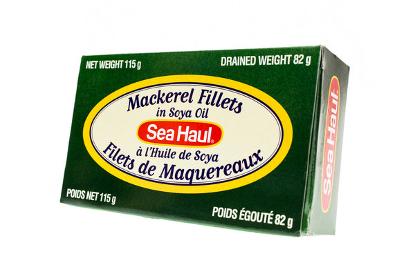 SEA HAUL Mackerel Fillets in Soya Oil