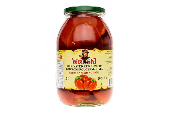 WOLSKI Marinated Red Peppers (1.5L)
