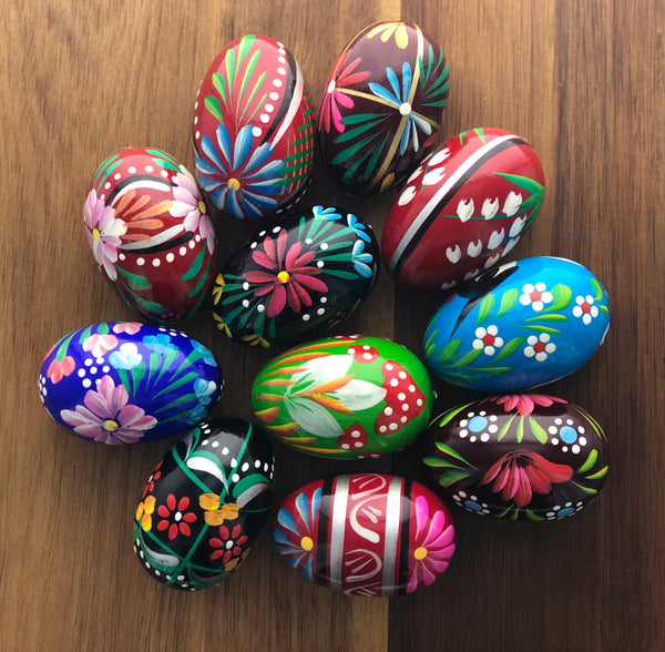 Colored Wooden Eggs