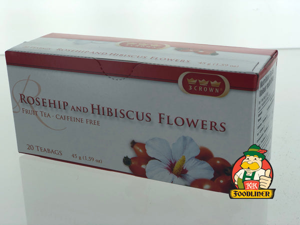 3 CROWN Tea Rosehip and Hibiscus