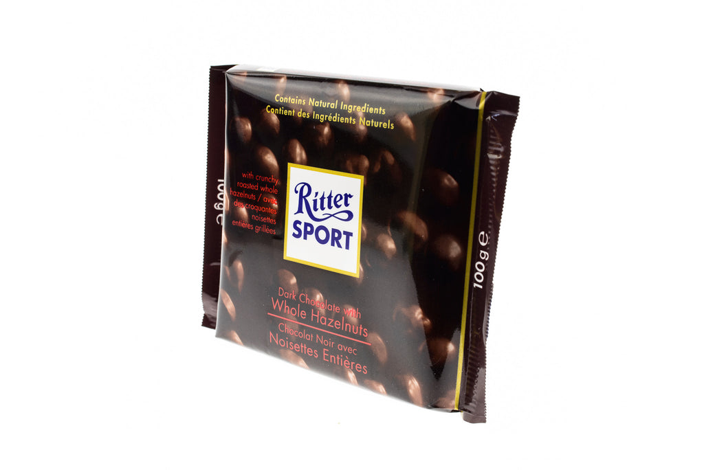 RITTER SPORT NS Dark Choc. w/Whole Hazelnut