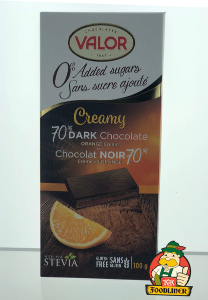 VALOR 70% Dark Chocolate Orange Cream