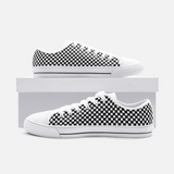 Shah Pattern - Unisex Low Top Canvas Shoes