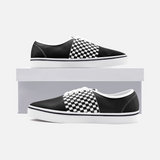 Shah Pattern - Unisex Canvas Shoes Fashion Low Cut Loafer Sneakers