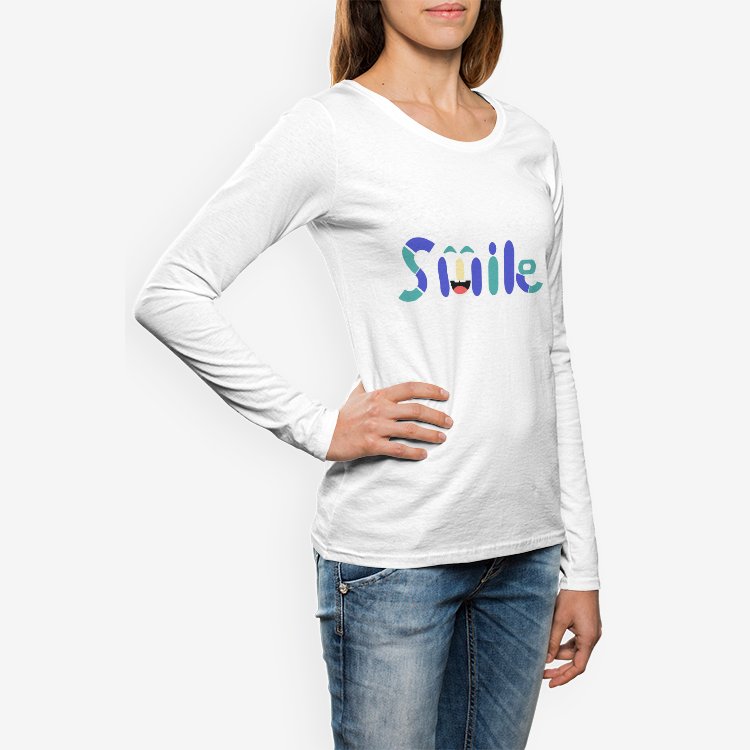 Women's Crew Neck Long sleeve T-shirt