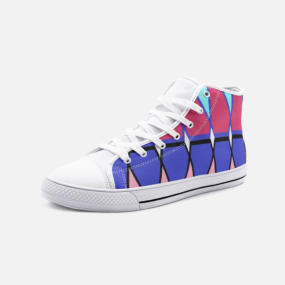 Sima Pattern - Unisex High Top Canvas Shoes