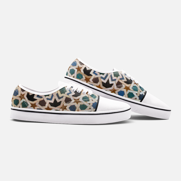 Granada Pattern - Unisex Canvas Shoes Fashion Low Cut Loafer Sneakers