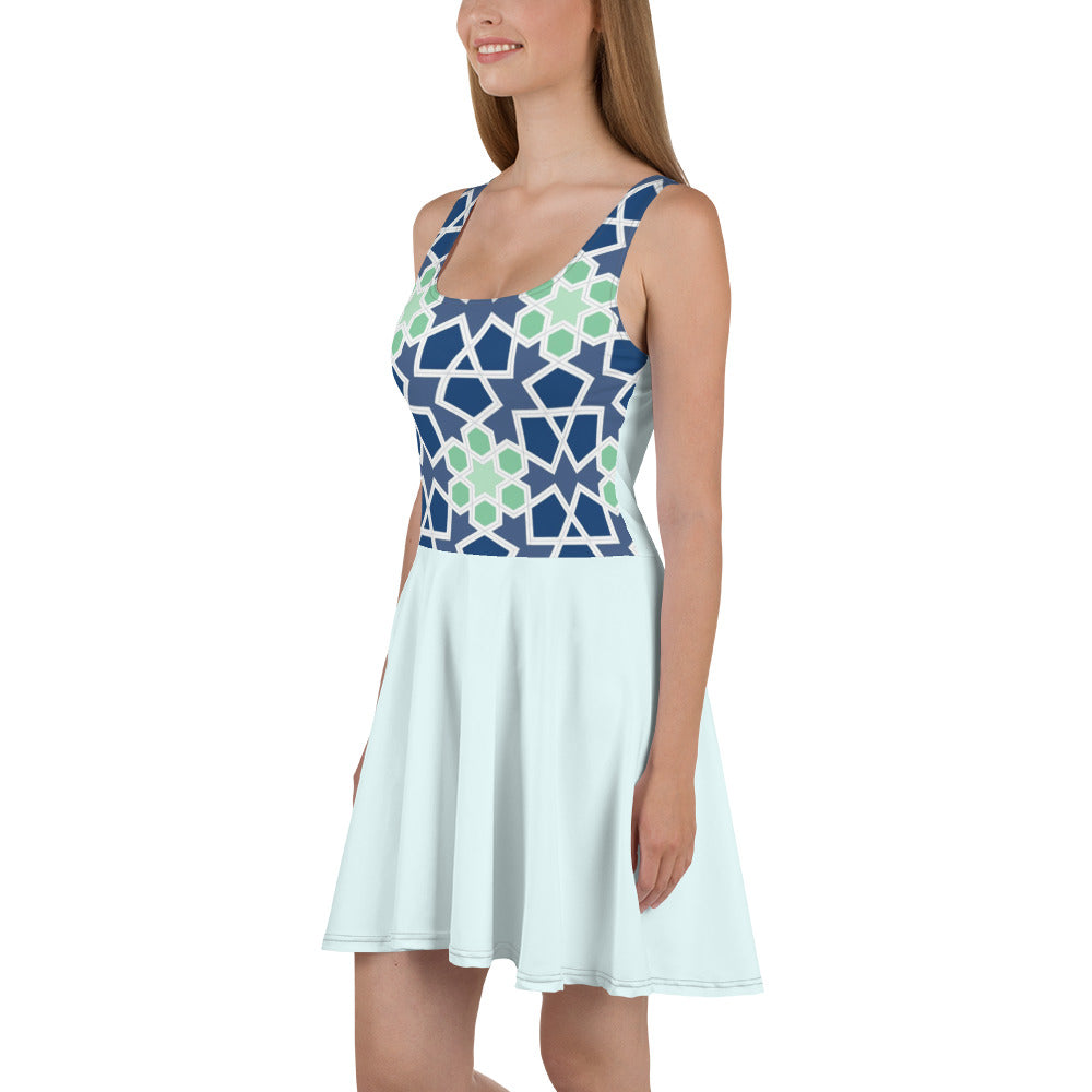 Sofia Pattern Skater Dress