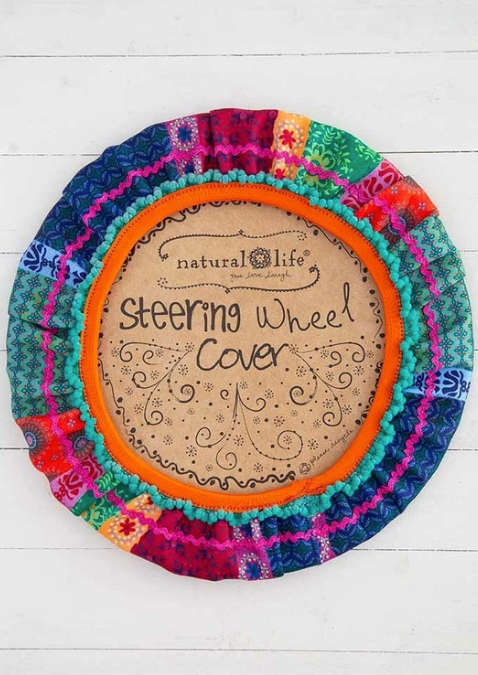 Steering Wheel Cover - Mixed Print